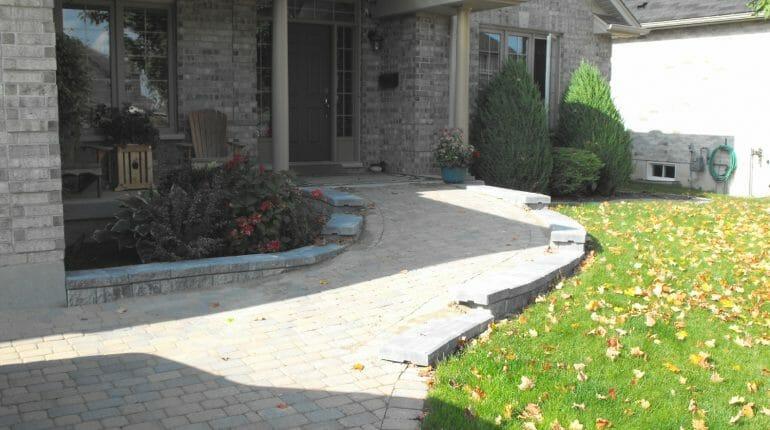 Interlock Front Ramp - London, Ontario Landscaping & Custom Landscape Design