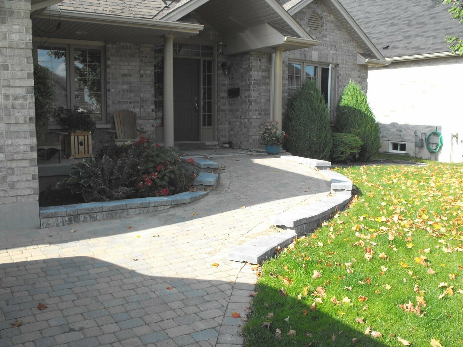 Interlock Front Ramp - London, Ontario Landscaping & Custom Landscape Design