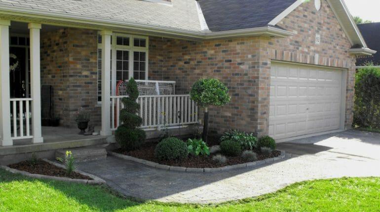 Front Yard Interlock Walkway - London, Ontario Landscaping & Custom Landscape Design