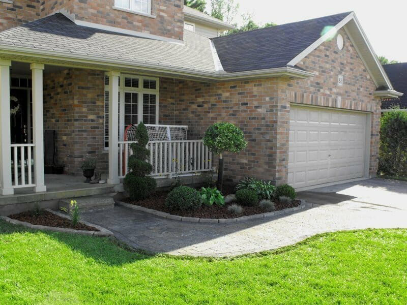 Front Yard Interlock Walkway - London, Ontario Landscaping & Custom Landscape Design