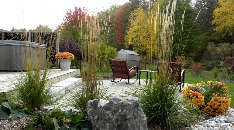 Backyard Patio and Gardens - London, Ontario Landscaping & Custom Landscape Design