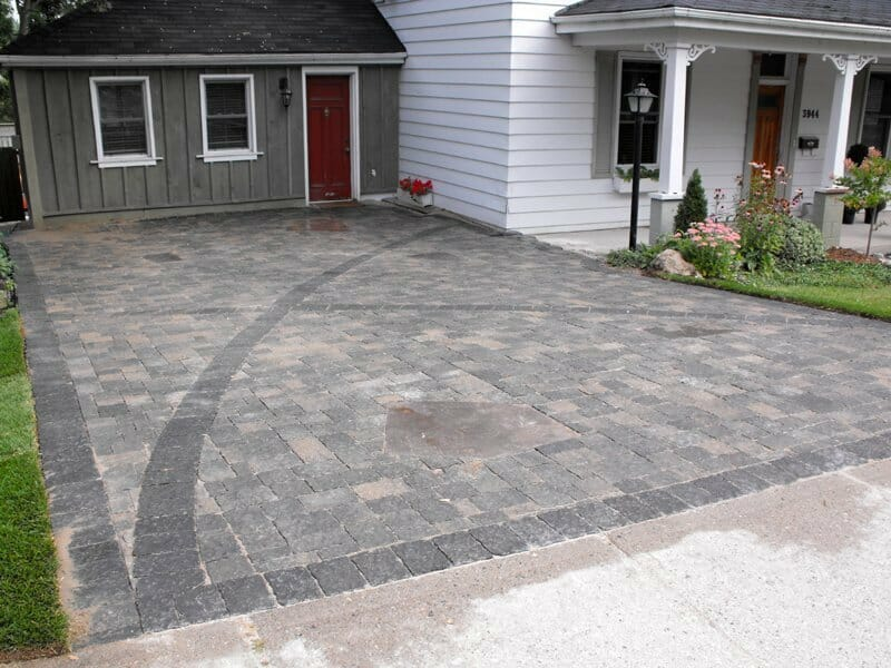 Interlock Driveway - London, Ontario Landscaping & Custom Landscape Design