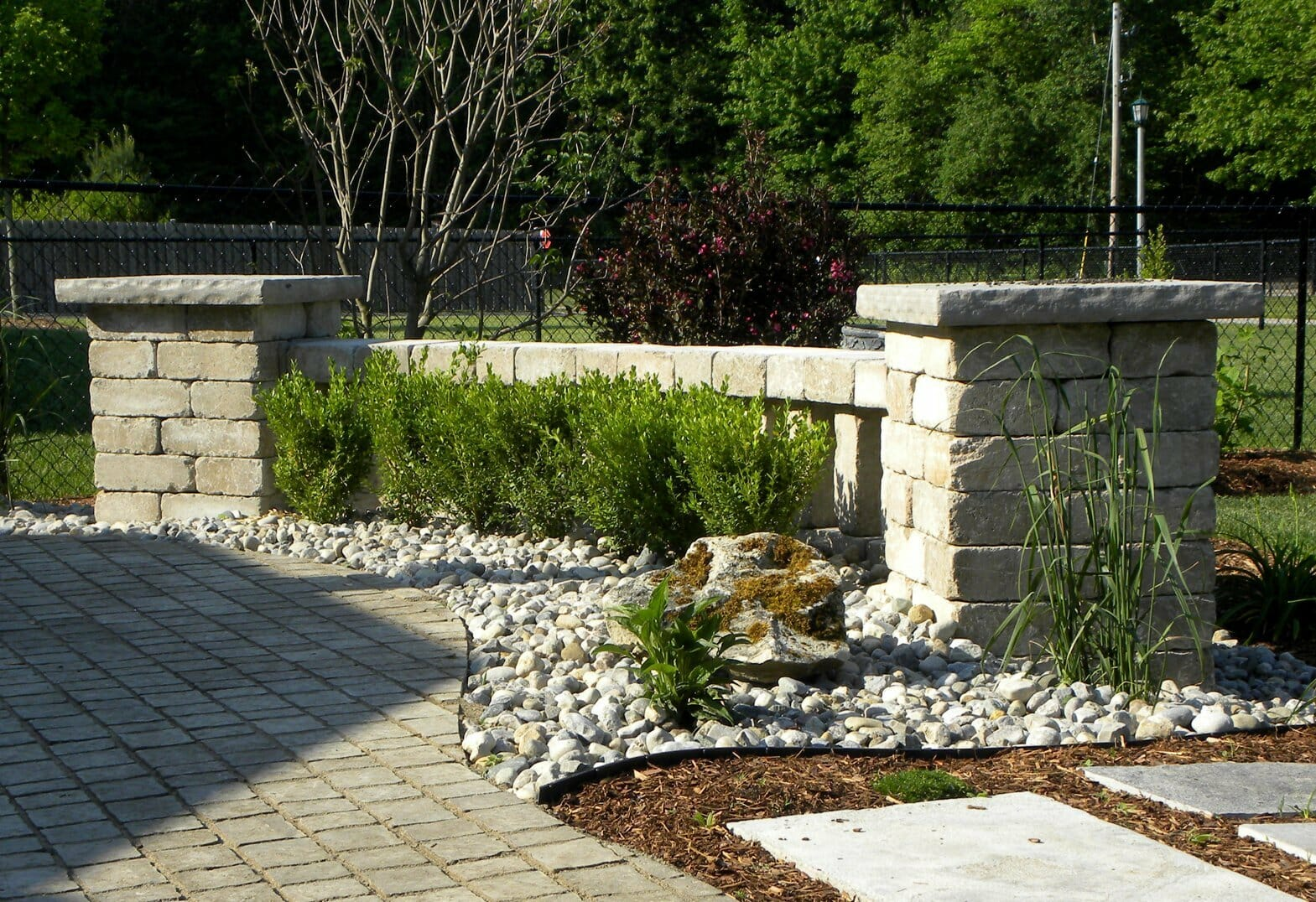 Backyard Garden Stonework - London, Ontario Landscaping & Custom Landscape Design