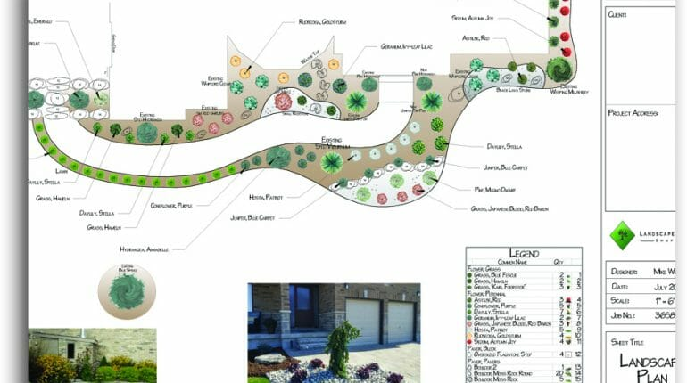 Front Yard Landscape Design - London, Ontario Landscaping & Custom Landscape Design