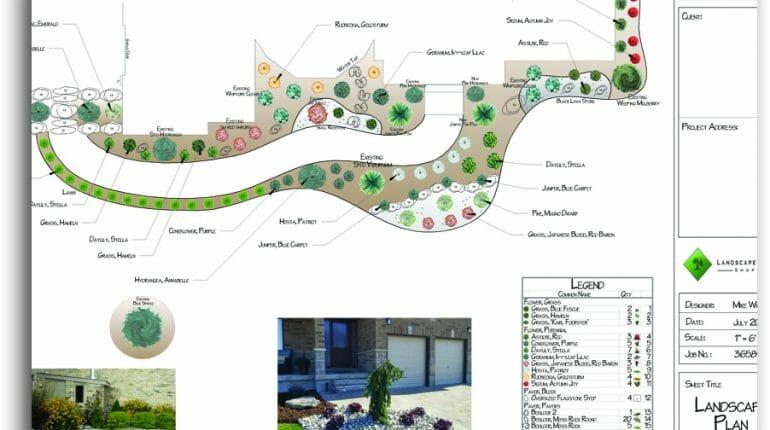 Front Yard Landscape Design - London, Ontario Landscaping & Custom Landscape Design
