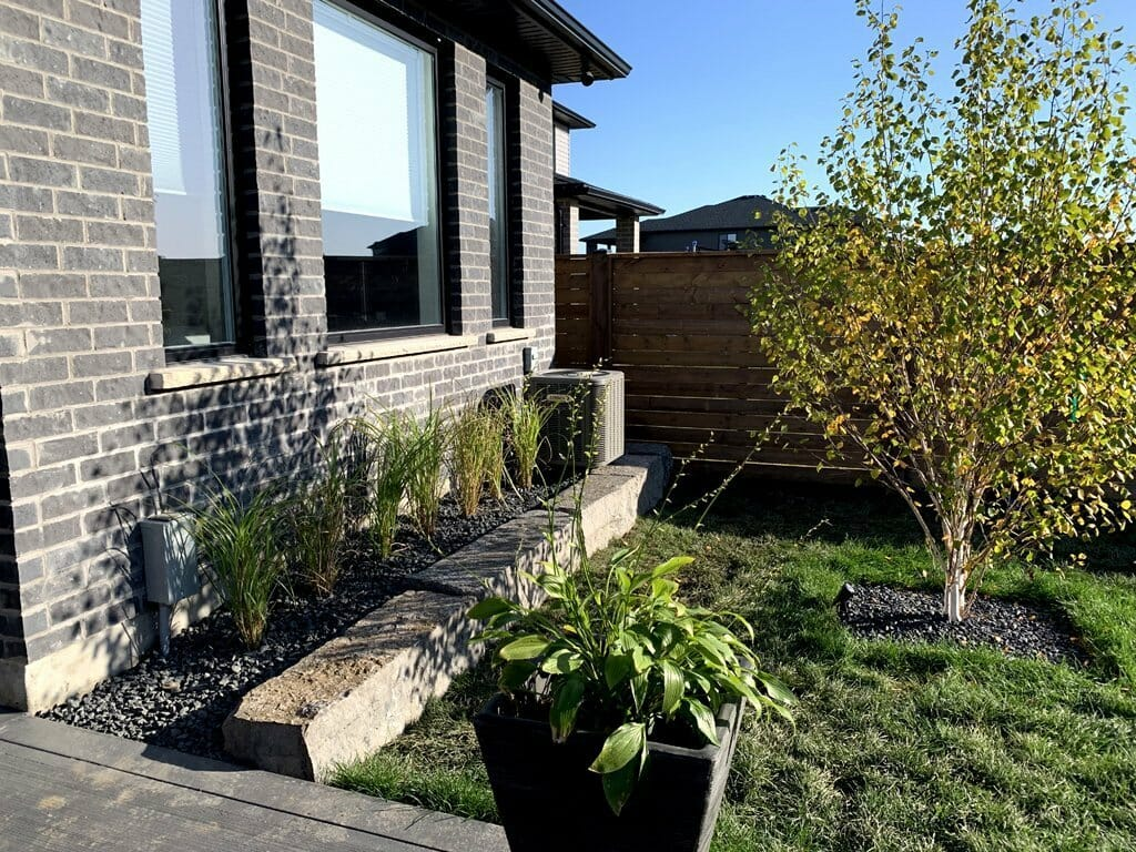 Landscaping London, Ontario - After Armour Stone Wall Backyard - Landscape Design - Mike Wilkins Website