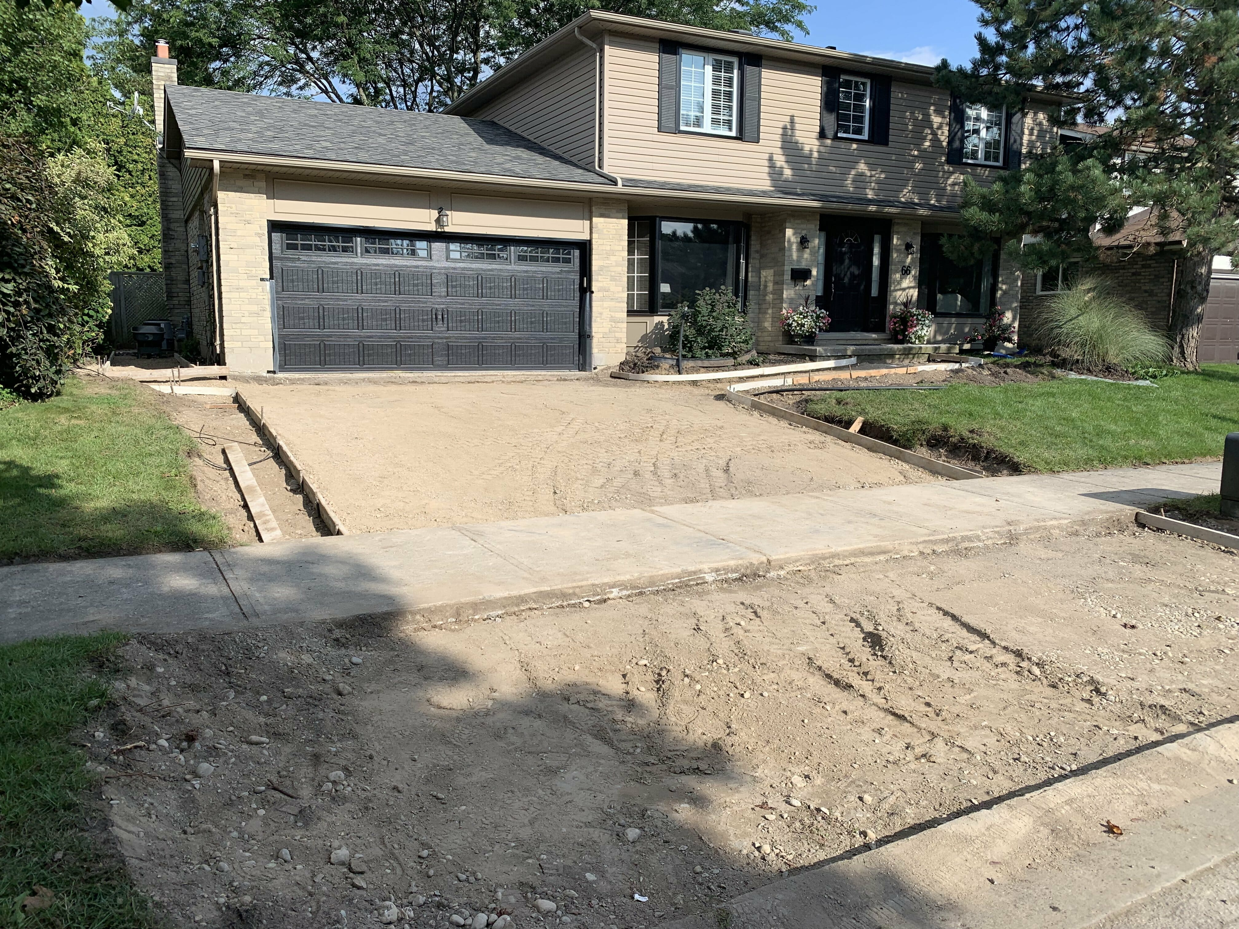 Before Image driveway London, Ontario - SimpliScapes