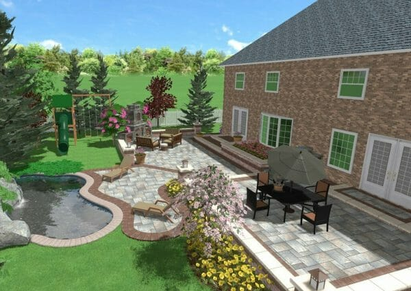Backyard Landscape Design In London Ontario - SimpliScapes