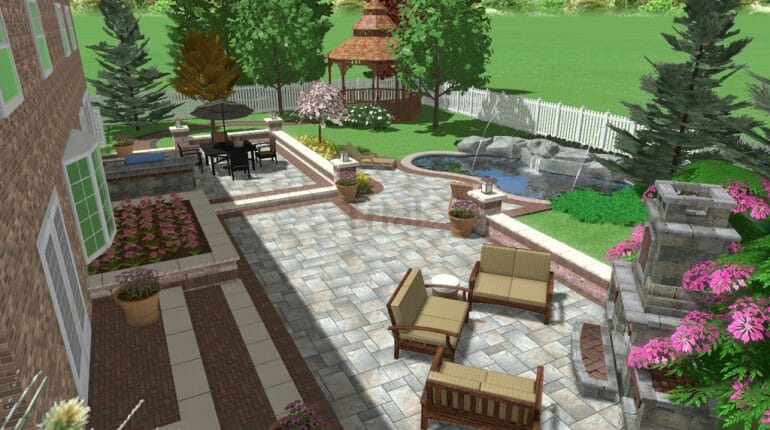 Backyard Patio & Pool Landscape Design In London Ontario - SimpliScapes