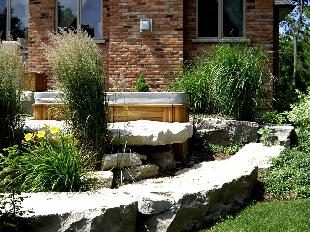 Hot Tub Privacy Landscaping London, Ontario - SimpliScapes